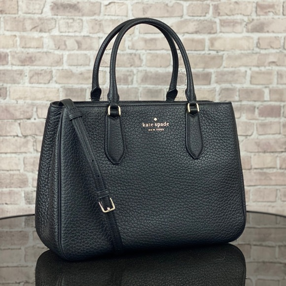 KATE SPADE LEIGHTON LARGE LEATHER SATCHEL TOTE BAG